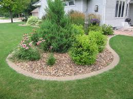 Outdoor Decor Company Cement Curbing With An Aide In Privacy With The Landscape Design