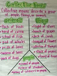 Chart Of Collective Noun Collective Nouns Anchor Chart For Teaching Grammar