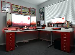 small office setup ideas. Wonderful Desk Gaming Setup Ideas Room Mad Cyborg Lights Top S Home Office Space Small