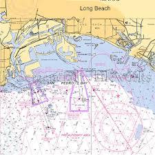 California Nautical Charts California Long Beach I Nautical Chart Decor