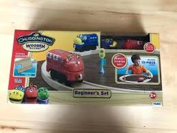 chuggington wooden train set wooden railway beginners set w layout nib chuggington wood train set chuggington wooden train
