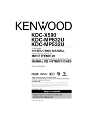 kenwood kdc x590 manuals