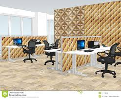 office decorative. View Of Office Space With A Decorative Wooden Wallpaper. Home, Businesswoman. G