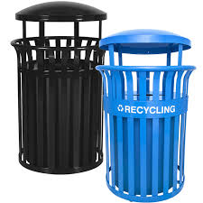 heavy duty all steel 35 5 gallon capacity outdoor recycling waste containers