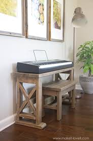 diy digital piano stand and bench a 25 project