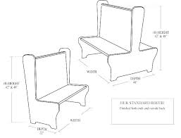 restaurant table dimensions dining booth dimensions booth dimensions for restaurant table dimensions in cm