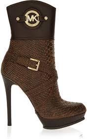 michael michael kors stockard snake effect leather platform boots