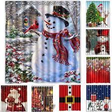 <b>Christmas</b> 7 Styles <b>Xmas</b> 3D <b>Printed</b> Bathroom Shower Curtain ...