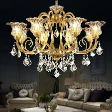 copper and crystal chandelier luxury all copper crystal chandelier living room bedroom restaurant style retro crystal copper and crystal chandelier