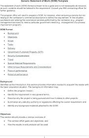 Project Management Statement Of Work Template Andrewhaslen Co