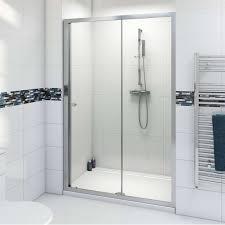 Bathroom : Wonderful Sliding Glass Shower Doors Combine Stainless ...