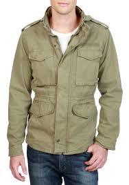 lucky brand m 65 field jacket deep lichen green men young men s clothing jackets