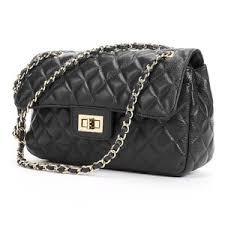 Zenith Leather Quilted Shoulder Bag - Polyvore & Zenith Leather Quilted Shoulder Bag Adamdwight.com