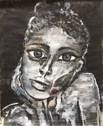 thinking about you painting 37x29x0 1 cm 2018 by i muttu