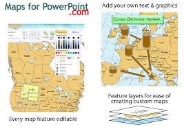 Editable Map Of Usa For Powerpoint North America Powerpoint Map With Countries Provinces States