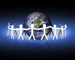 kyoto protocol home symbol of people coming together to care for the world and environment