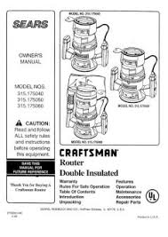 315 175040 craftsman double insulated router Craftsman 315 Rouer Wiring Diagram Craftsman 315 Rouer Wiring Diagram #33