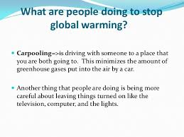 global warming good presentation  <br > 13