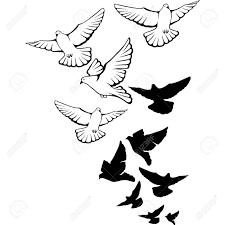 flock of birds clipart. Contemporary Clipart Birds Flying Pencil S Of Flock Inside Clipart K