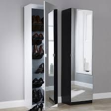 argos tall pine shoe cabinet with mirror door storage ideas