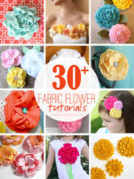 30 diy fabric flower tutorials via make it and love it
