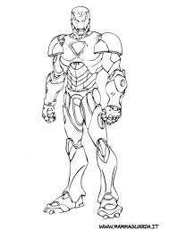 Iron Man Da Colorare Colorare