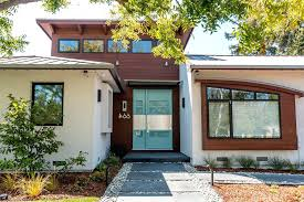 mid century modern front porch. Mid Century Modern Front Yard Porch Entry With Brick Exterior Textured Fence R