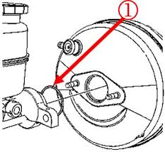 note the o-ring seal between the master cylinder and power booster