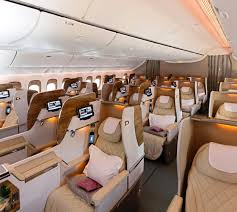 note that some 777 300er aircraft still feature angled flat seats though their newer jets have fully flat and an updated cabin design