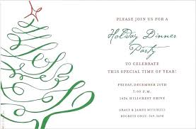 Template For Christmas Party Invitation Dinner Invitation Company Template Christmas Holiday Templates Free