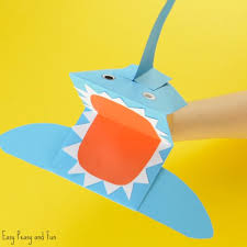 shark paper hand puppet easy peasy and fun shark paper hand puppet craft
