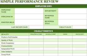 Weekly Evaluation Forms 70 Free Employee Performance Review Templates Word Pdf Excel