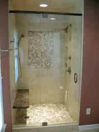 Shower Design Bathroom Walk In Shower With Glass Door And Marble Wall Bathroom