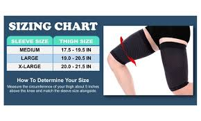 Doc Miller Size Chart Thigh Compression Sleeve 1 Pair Groupon