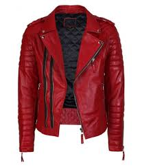 savera leather red biker jacket savera leather red biker jacket at best s in india on snapdeal