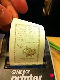 tbt game boy printer x pokemon yellow diploma video game fun   tbt game boy printer x pokemon yellow diploma
