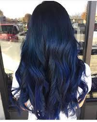 Subtle Blue Highlights Midnight Blue Fckinghair By Conniecouture Hair Blue Hair Hair
