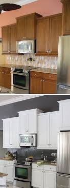 painted white kitchen cabinets before and after. Transform Your Kitchen With Paint \u2014 Before And After Pictures Painted White Cabinets