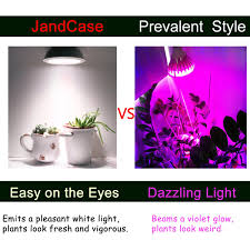 White Led Grow Light Jandcase Full Spectrum White Light Led Grow Light Bulb 20w Natural Plant Light For Greenhouse Gardening Grow Bulb For Indoor Hydroponic Plants E26