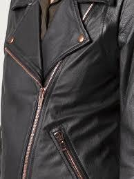 black leather jacket rose gold zipper cairoamani com
