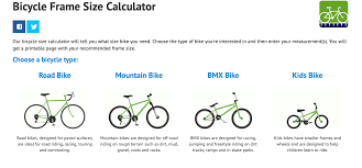 Bmx Size Chart Bike Size Chart Infographic Get The Right Size In 2 Minutes