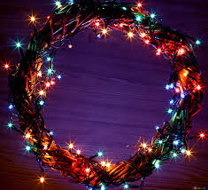 Wreath With Blue Lights Download Free Picture Christmas Lights Wreath Blue