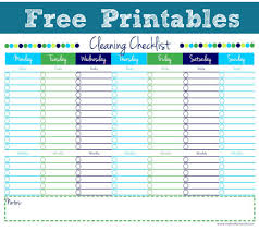 cleaning schedule printable cleaning checklist free printable