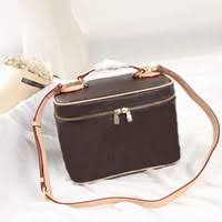 canvas nice makeup bags women s make up bags brush necessaries cosmetic bag genuine leather