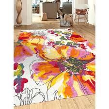 non slip area rugs modern bright flowers multicolored non slip non skid area rug anti slip