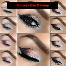 smokey eye makeup steps by step for women