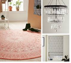 clockwise from left urban outfitters florisse printed round rug 79 at urbanoutfitters com