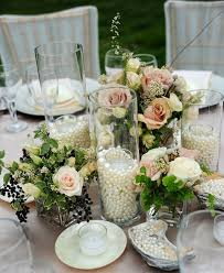Glass Jar Table Decorations 100 Vintage Wedding Ideas with Pearl Details Tulle Chantilly 67