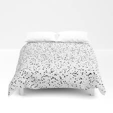 speckles i double black on white duvet cover
