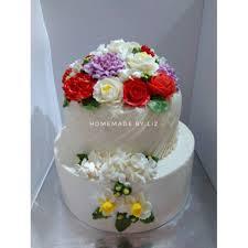 Kue Ulang Tahun Anniversary Wedding Cake Cikarang Shopee Indonesia